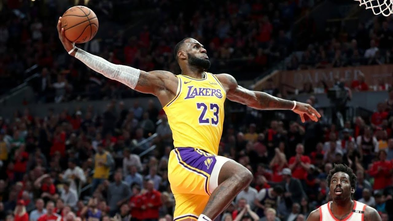 Lebron James Lakers Debut Back To Back Dunks 2018 19 Nba Season Youtube