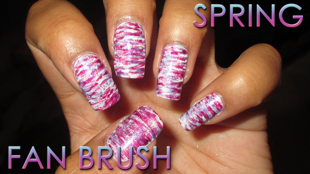 Spring Fan Brush | DIY Nail Art Tutorial - YouTube
