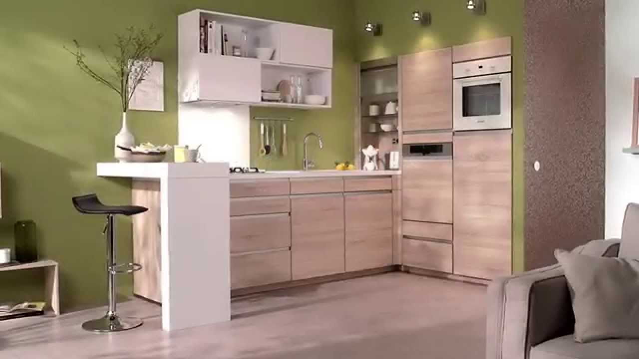 la cuisine petit espace salsa conforama youtube. Black Bedroom Furniture Sets. Home Design Ideas