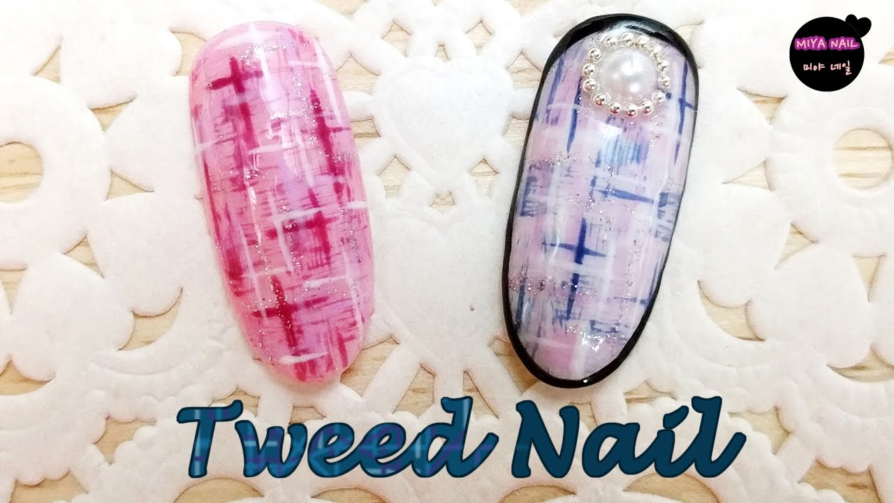 Tweed Nail Art Tutorial How To Draw Tweed Youtube