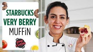 Starbucks Very Berry Muffin Tarifi | Orman Meyveli Akışkan Kek🥧