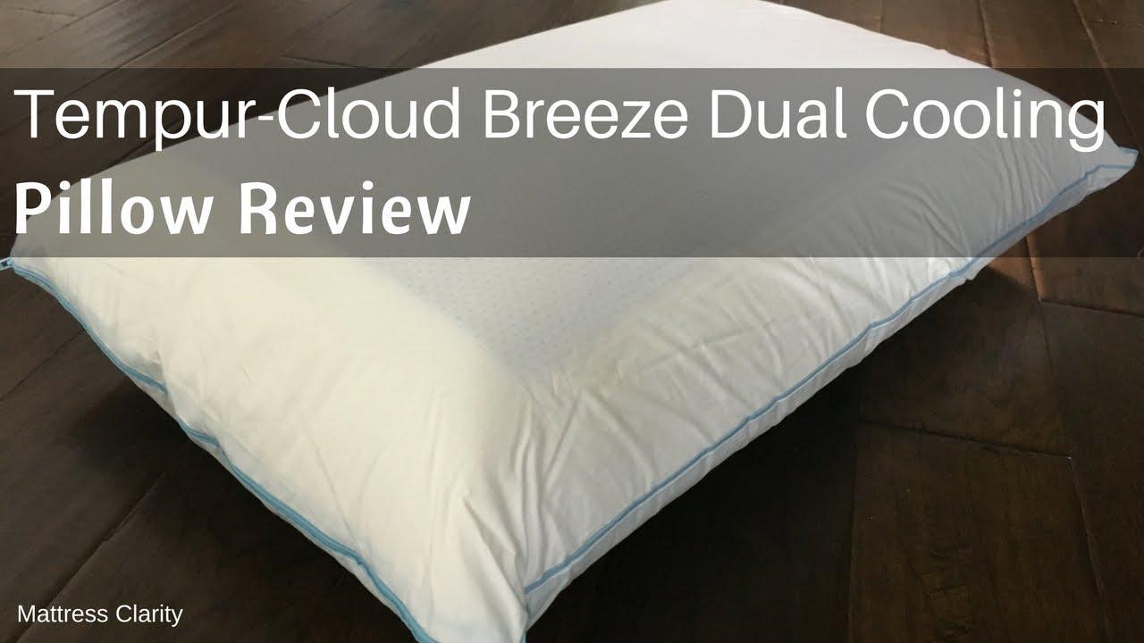 Tempur cloud breeze dual cooling pillow review coolest pillow ever