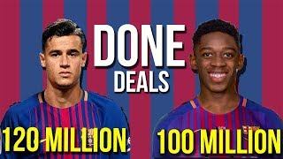 Barcelona to sign coutinho and dembele confirmed ,  man utd  wants thomas lemar | transfer news 2017