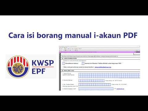 Cara Isi Borang Manual I Akaun Pdf Tanpa Print Youtube