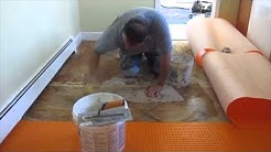 Schluter Ditra explained and how to install it on Plywood.