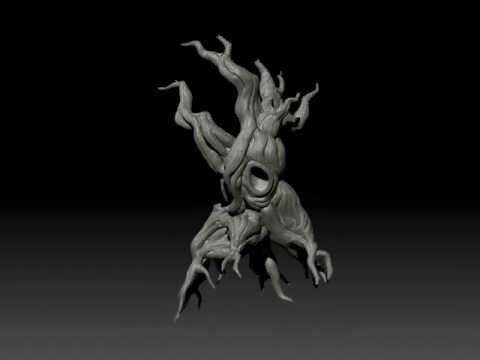 ZBrush 4 Tree sculpt