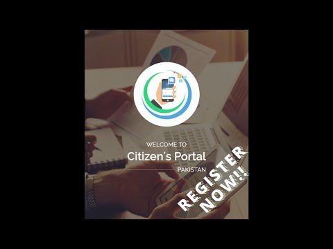 Pakistan Citizens Portal Registration