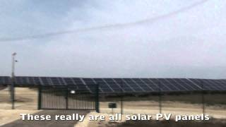 Solar PV Farm, huge solar Photovoltaic array