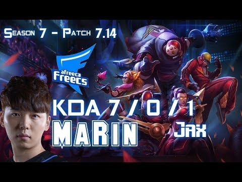 AFs MaRin JAX vs JARVAN IV Top - Patch 7.14 KR Ranked