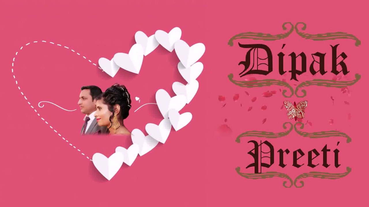 Deepak & Preeti wedding invitation - YouTube