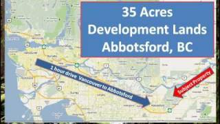 Abbotsford 35 acres development subdivision land