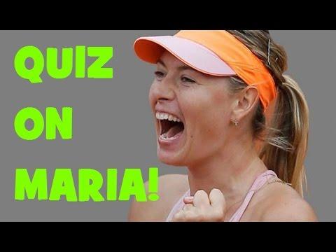 Hardest QUIZ on Maria SHARAPOVA! - Stuttgart 2018