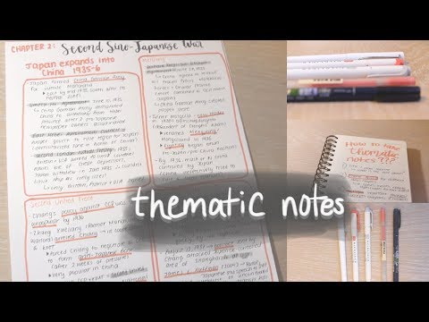 How to take THEMATIC Notes | Study Effectively!!