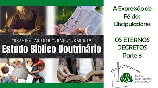 ESTUDO BÍBLICO - OS ETERNOS DECRETOS DE DEUS (PARTE 3)