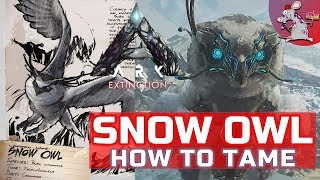 ARK EXTINCTION SNOW OWL TAMING  - ABILITIES AND BREEDING BEST CREATURE IN DLC