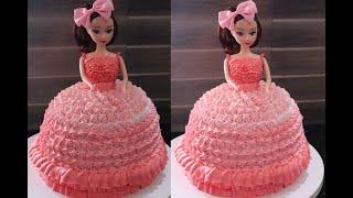 ഓവൻ ഇലലത ആർകക  ഉണടകക ഡൾ കകക Doll CakeBarbie Cake Malayalam