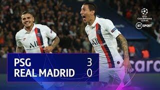 Paris Saint Germain vs Real Madrid (3-0) | UEFA Champions League Highlights