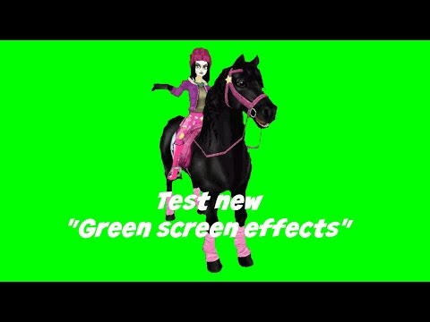 Starstable online - Test new Green screen effects