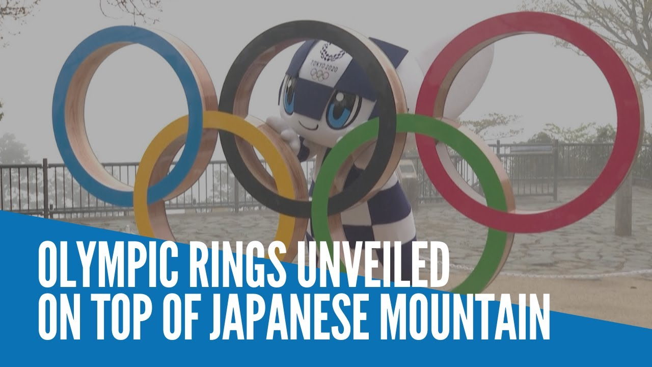 Olympic Rings unveiled on top of Japanese mountain - INQUIRER.net