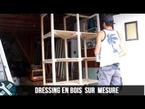 bricolage vlogs fabrication d 39 un dressing en bois sur mesure youtube. Black Bedroom Furniture Sets. Home Design Ideas