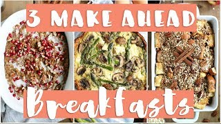 Today i'm sharing 3 make-ahead traditional holiday inspired breakfast recipes with a twist! i've got gingerbread slow cooker oatmeal, apple crumble french-to...