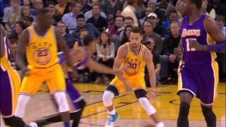Stephen Curry Leaves Jordan Clarkson Stumbling