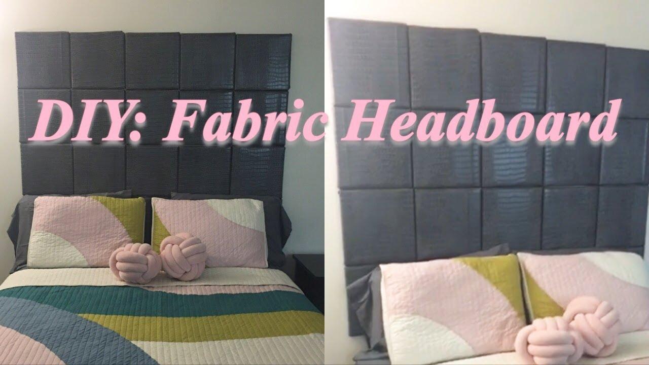diy fabric canvas headboard