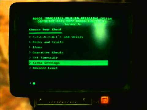 <b>XBOX 360 FALLOUT</b> NEW VEGAS DEBUG ROOM + <b>CHEAT</b> TERMINAL + MY SUPER ...