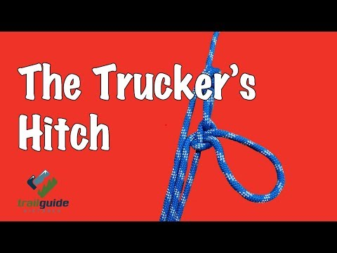 The BEST way to tie a Truckers Hitch