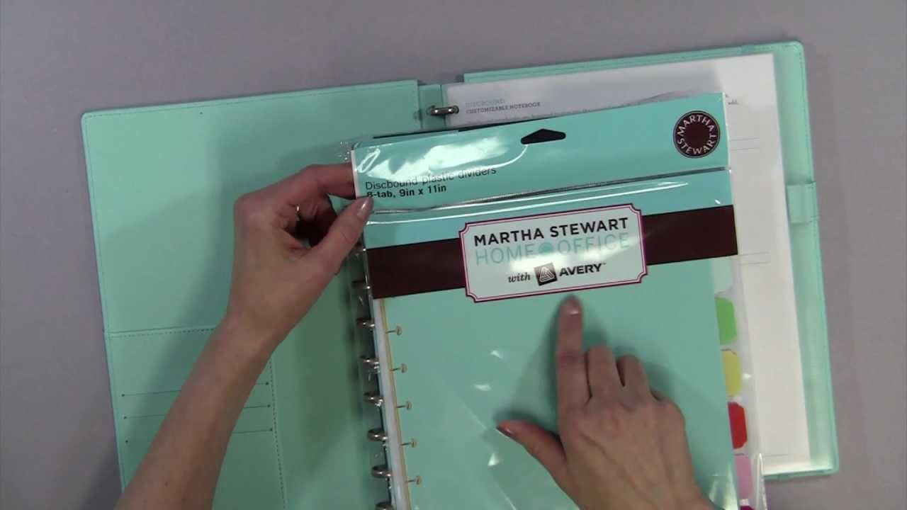 review of martha stewart s new discbound notebook system youtube