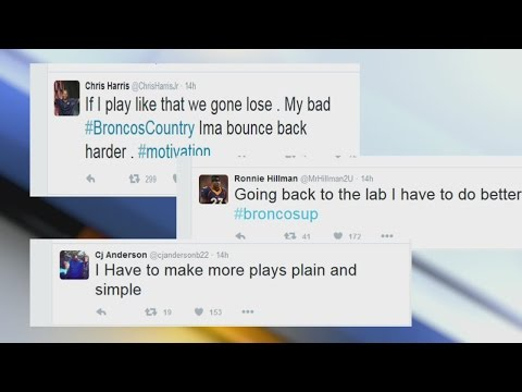 What did the Broncos say on social media after the Steelers