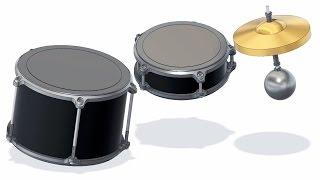 3D Printed Drums - Marble Machine X #5