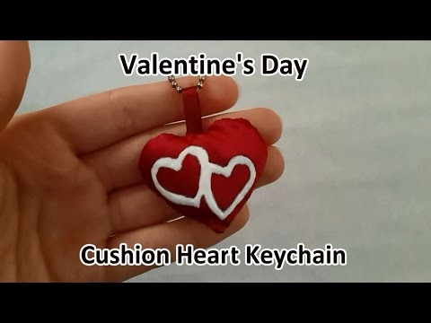 Valentine S Day Diy Cushion Heart Keychain Youtube