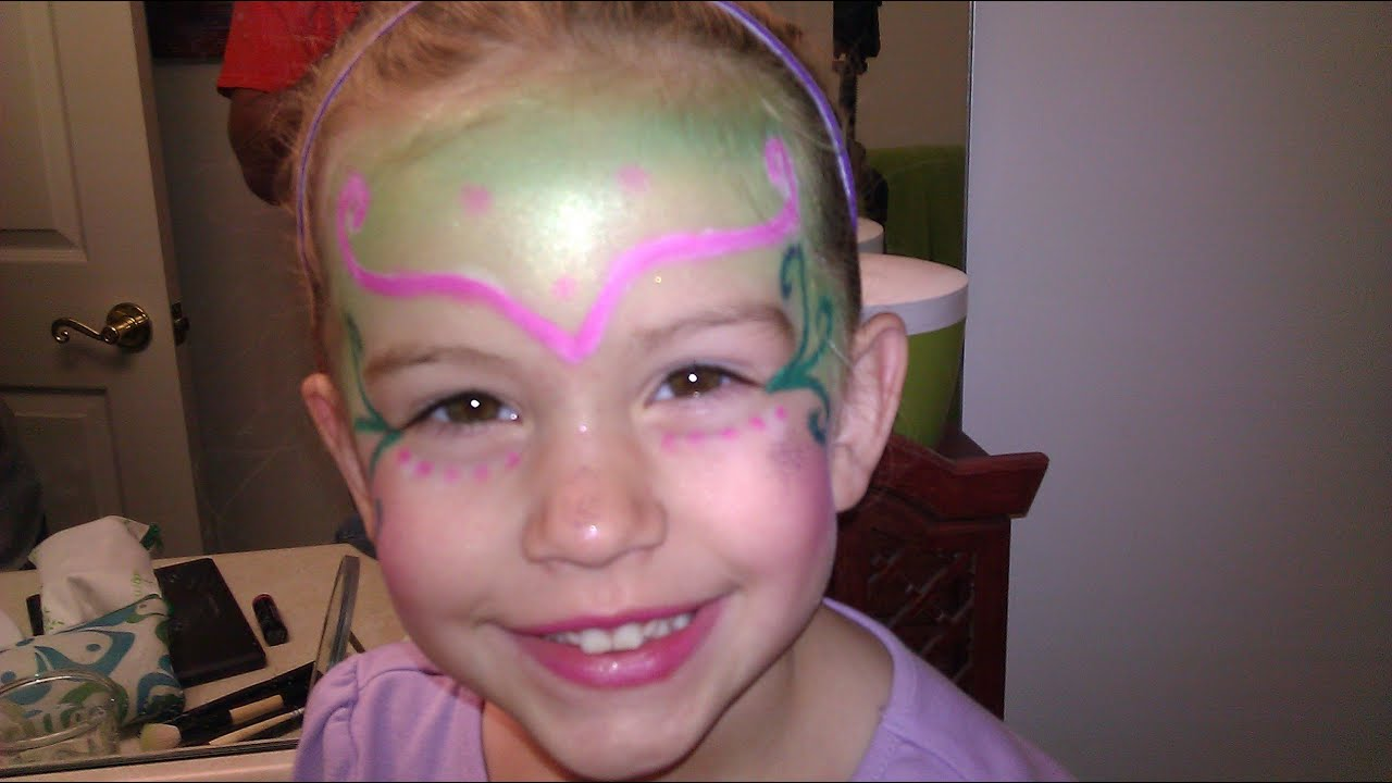 Kid\'s Halloween Fairy Makeup Tutorial - YouTube