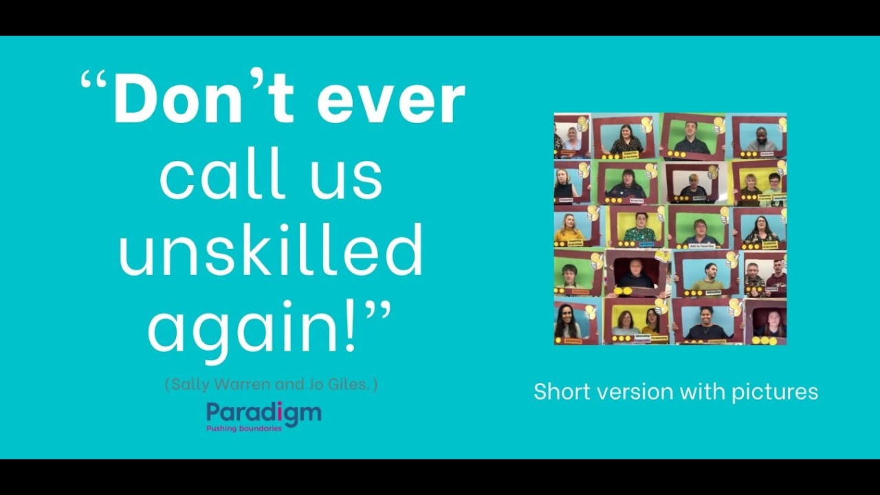 Report: Don't Ever Call Us Unskilled again!
