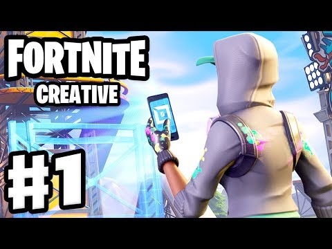 Fortnite: Creative - Gameplay Walkthrough Part 1 - Creative Mode Coins and Zanitors First Map PC