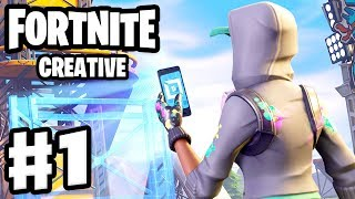 Fortnite: Creative - Gameplay Walkthrough Part 1 - Creative Mode Coins and Zanitor's First Map! (PC)
