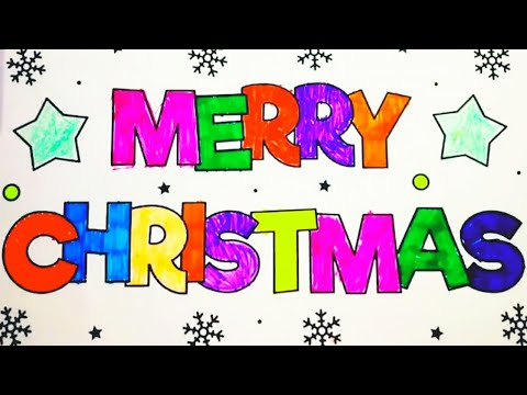 MERRY CHRISTMAS POSTER COLOURING-GREETINGS-XMAS-WISHES-Coloring With AkshataFatnani-Ep 03