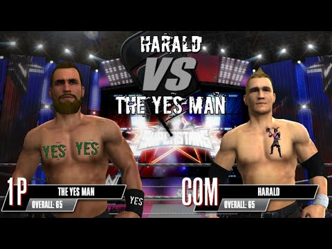 Wwe Superstars Match Harald vs The Yes Man