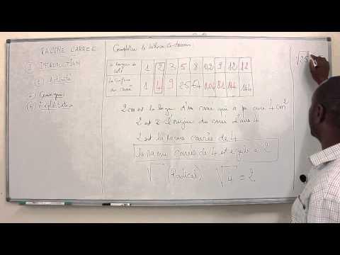Cours - Troisiéme - Mathématiques : Racine Carrée Introduction