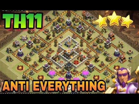 Best Th11 War Base Anti Electro Dragon 5