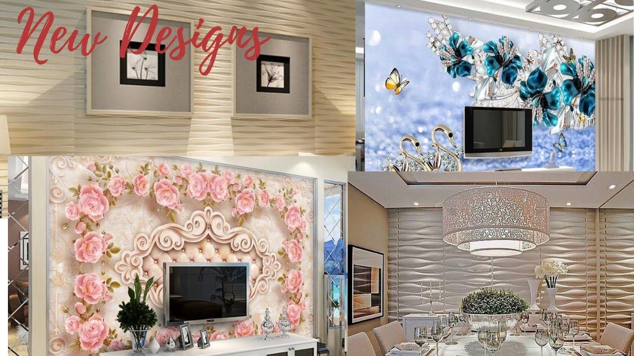 Trendy wallpaper designs for living room