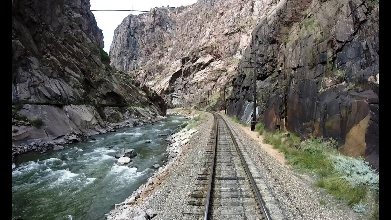 royal gorge route railroad driver s eye view youtube. Black Bedroom Furniture Sets. Home Design Ideas