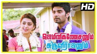 Gemini Ganeshanum Suruli Raajanum Scenes | Atharvaa and Pranitha break up | Soori | Rajendran