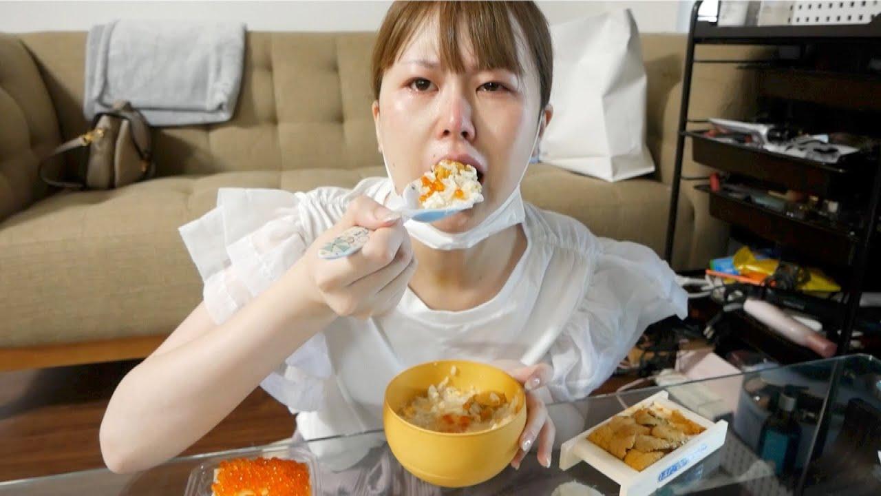整形後初、2週間ぶりのご飯に大号泣する女