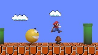 Pacman vs Super Mario CRAZY BATTLE thumbnail