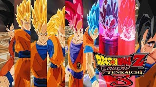 Goku DBS SSJ,SSJ2,SSJ3,SSJG,SSJB,SSJBKaioken, SSJB Kaio100X and Limit Breaker - DBZ BT3 (MOD)