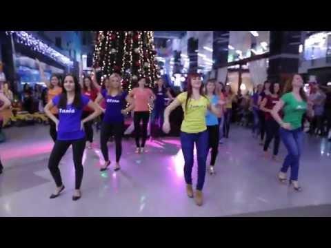 Флэшмоб в Мегагринне. Latina club  Dance Life official video