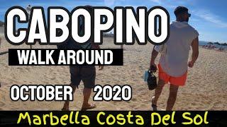 CABOPINO PORT WALK AROUND OCTOBER 2020 - Playa de Cabopino Costa Del Sol , Marbella
