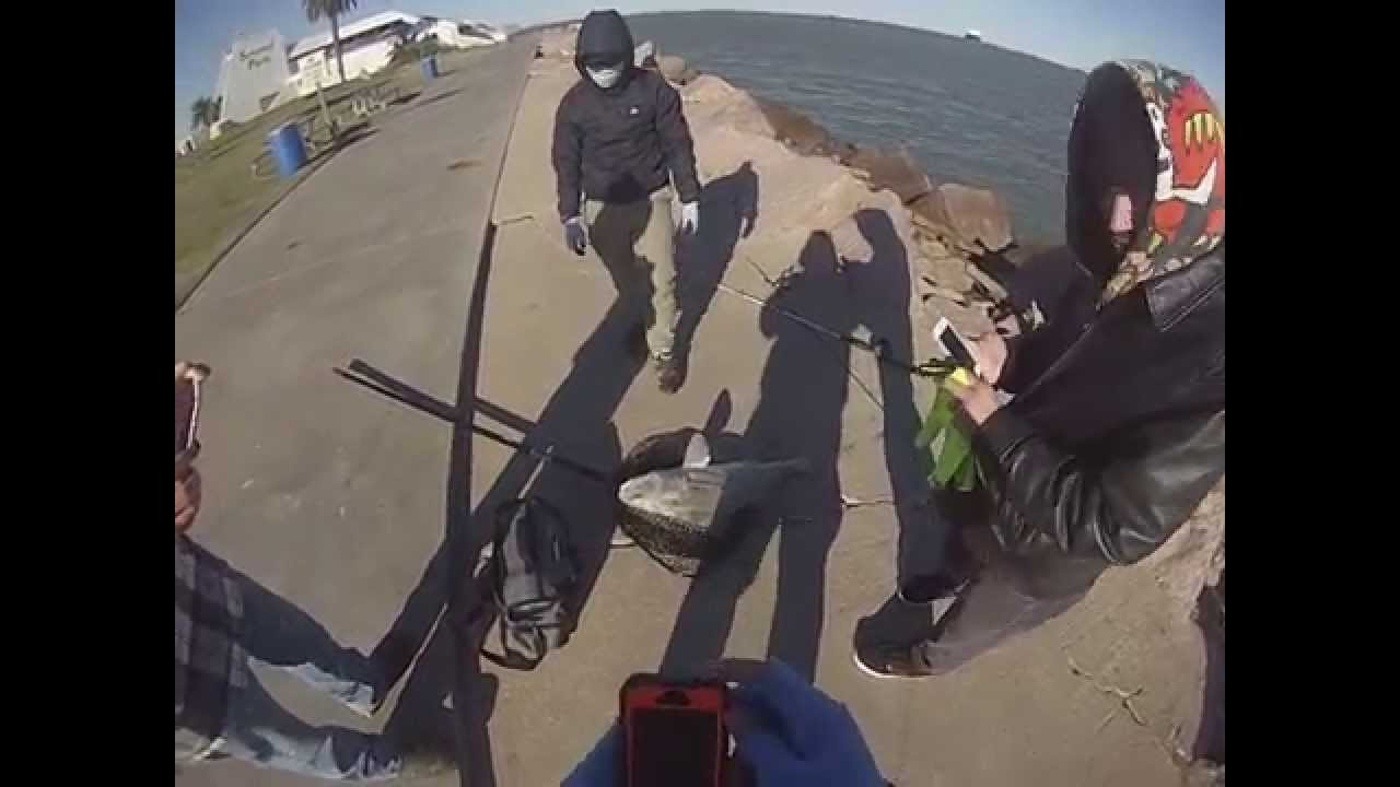 Seawolf park fishing very cold and windy day youtube for Seawolf park fishing report